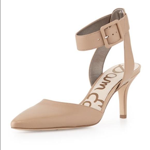 b5b2bda93b3 Sam Edelman Ankle Strap Pointed Toe Heels